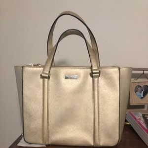 Used gold Kate Spade purse